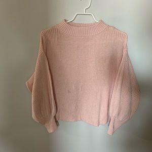 🔵Blush Bell Sleeves Cropped Sweater